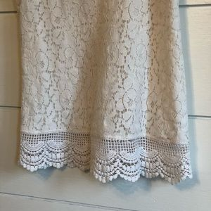 Mossimo Supply Co. Tops - Ivory Lace Tank